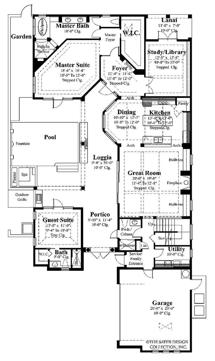 Best House Plans Covered Lanai Pinterest