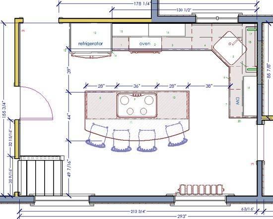 Best Kitchen Floor Plans Ideas Pinterest Open Home Plans