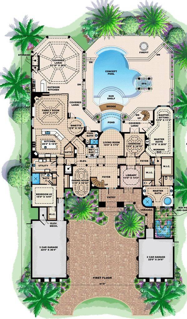Best Mediterranean House Plans Ideas Pinterest