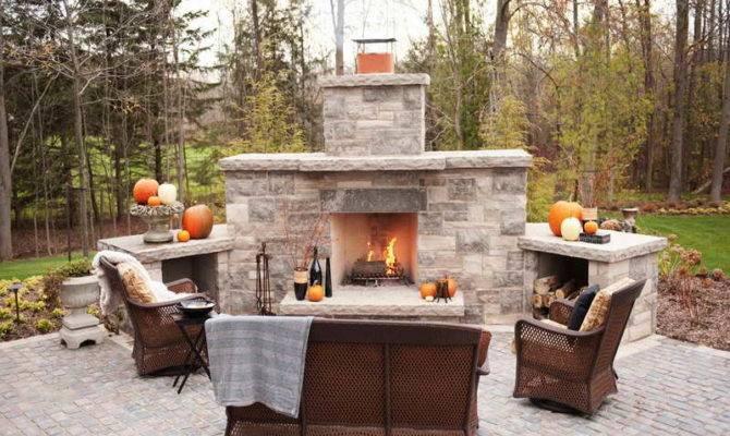 Best Outdoor Fireplace Plans Designs