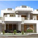 Bhk Contemporary Style House Exterior Home Kerala Plans