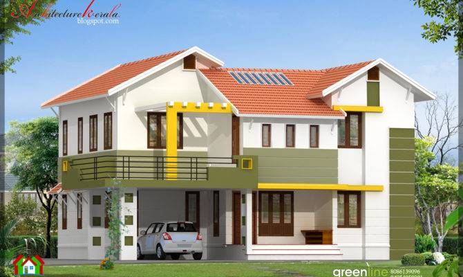 Bhk Contemporary Style Indian Home Elevation Design