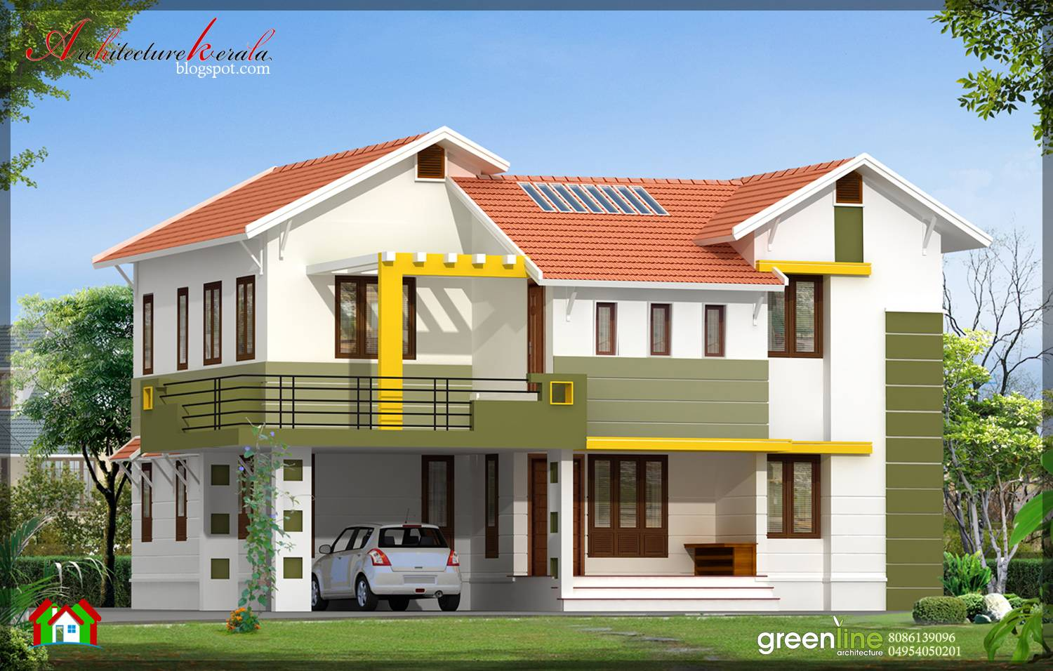 Bhk Contemporary Style Indian Home Elevation Design Home Plans Blueprints 48108