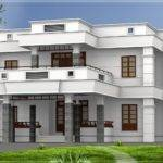 Bhk Modern Flat Roof House Design Home Kerala Plans