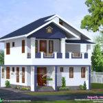 Bhk Sloped Roof House Architectcure Kerala Home Design