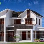 Bhk Sloped Roof House Kerala Home Design Floor Plans