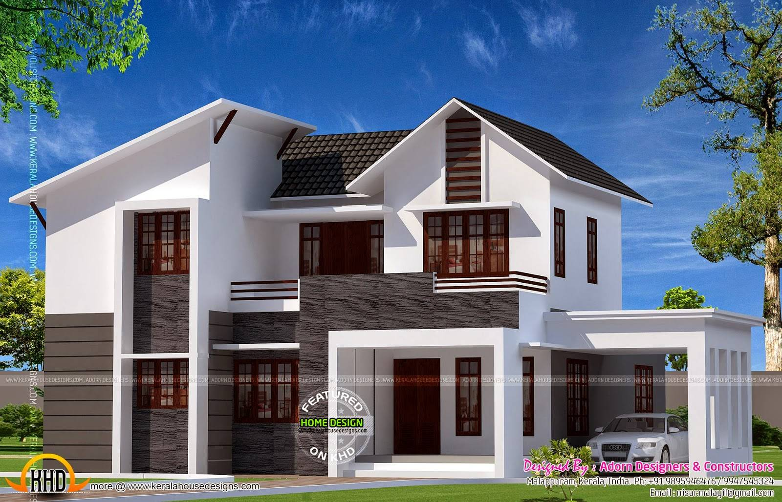 Bhk Sloped Roof House Kerala Home Design Floor Plans Home Plans Blueprints 47266