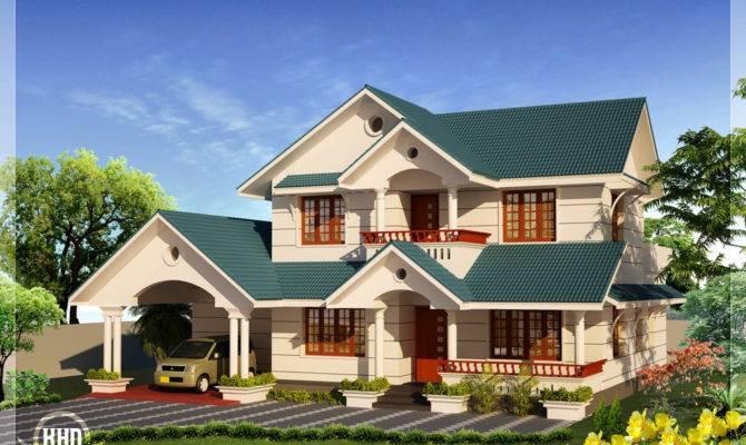Bhk Sloping Roof Home Design Kerala