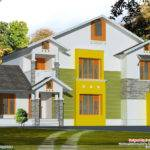 Bhk Sloping Roof House Design Kerala Home