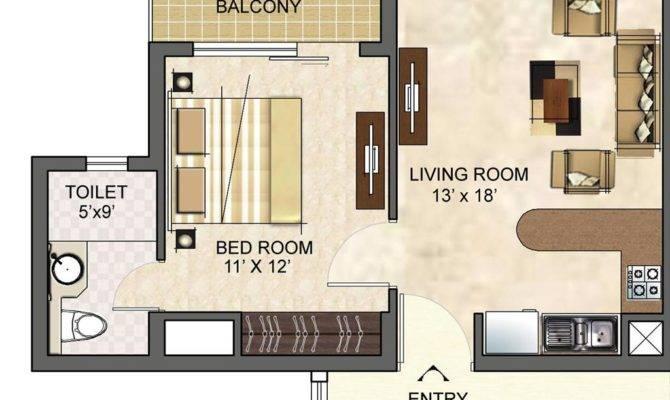 Bhk Studio Type Floor Plan