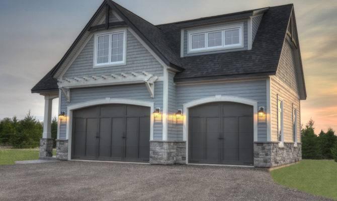 Black Garage Doors Carriage Dormer Windows Gable