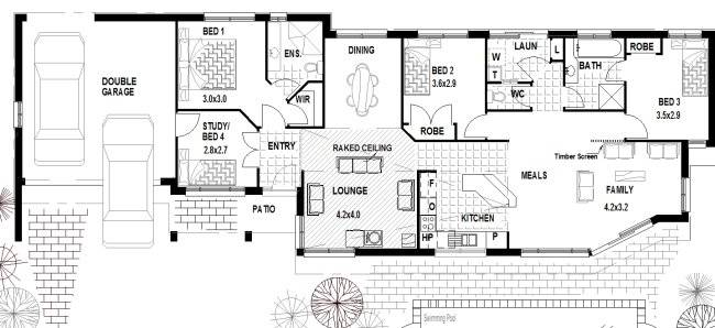 Corner House Narrow Lot Floor Plans