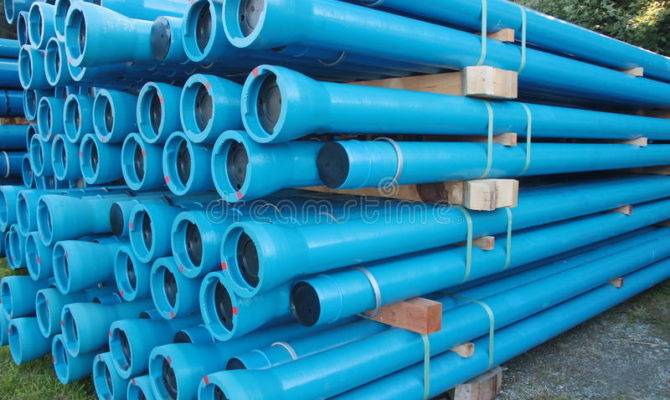 Blue Pvc Plastic Pipes Fittings Used Underground