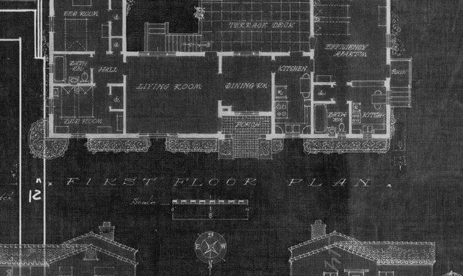 Blueprint Black White Level Digital Wallcoverings