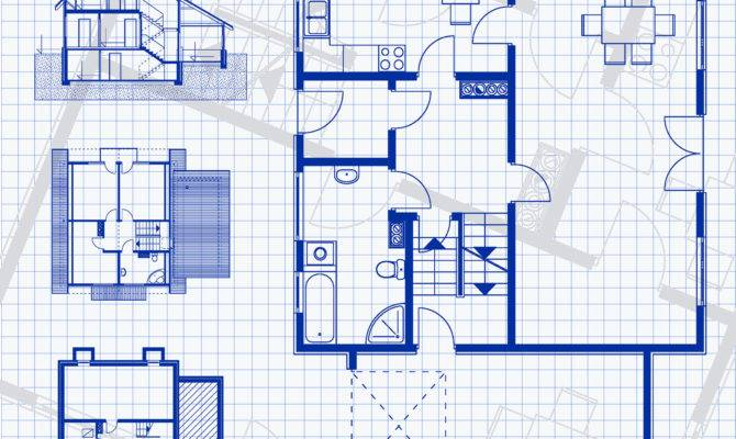 Blueprint Building Plans Homes Floor