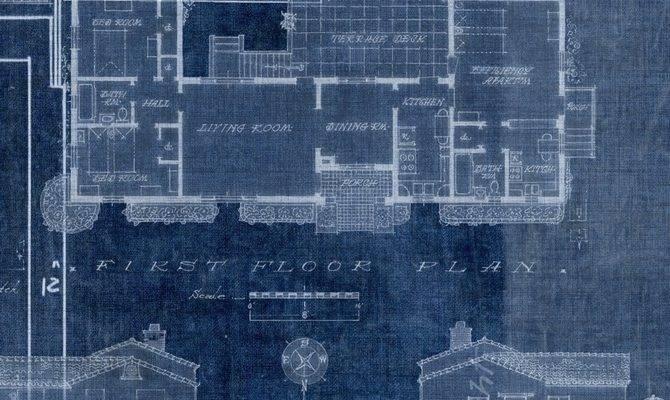 Blueprint Cobalt Level Digital Wallcoverings