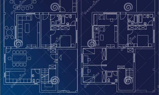 Blueprint Home Illustration