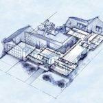 Blueprint Style House Beaudaniels Illustration