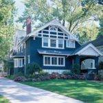 Bold Blue Paint Color Ideas Craftsman Houses