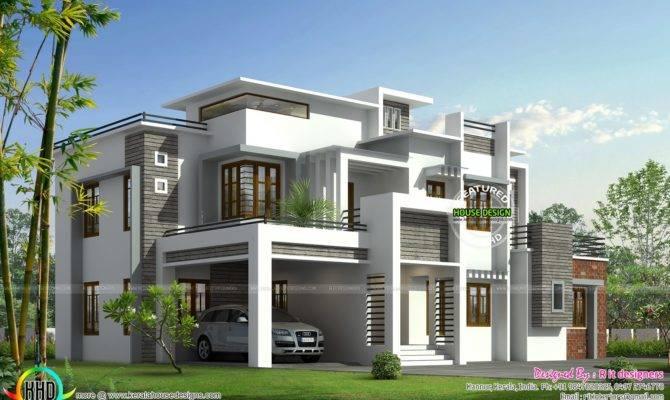 Box Model Contemporary House Kerala Home Design