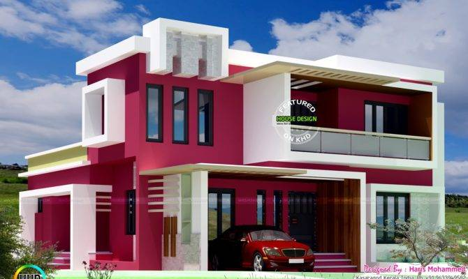 Box Type Contemporary Home Kerala Design Floor