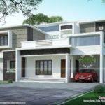 Box Type Flat Roof Home Arch Kerala Design