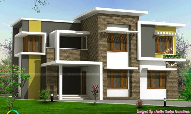 Box Type Home Kerala Design Floor Plans