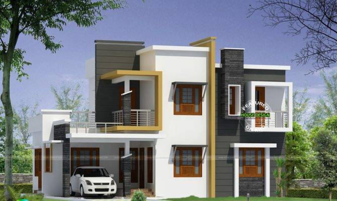 Box Type Modern House Plan Kerala Home Design Floor