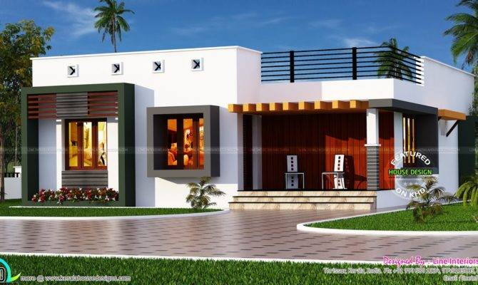 Box Type Single Floor House Kerala Home Design