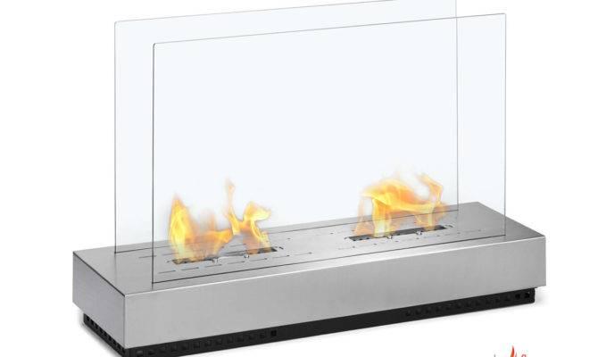 Braga Standing Floor Indoor Outdoor Ethanol Fireplace