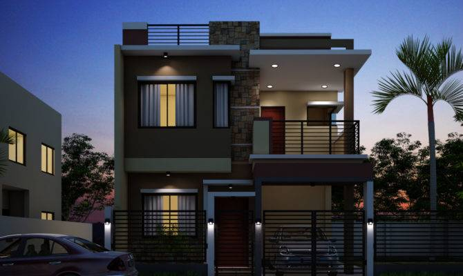 Breathtaking Double Storey Residential House Home