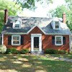 Brick Cape Cod Style House Home Design