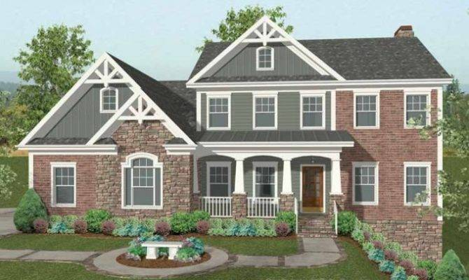 Brick Craftsman Home Pinterest
