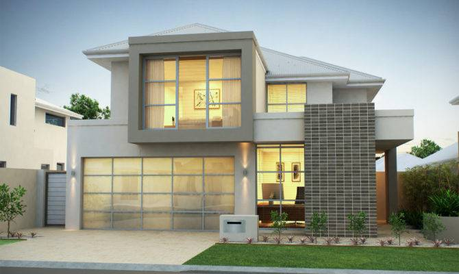 Brick Modern House Exterior Floor Ceiling Windows Window