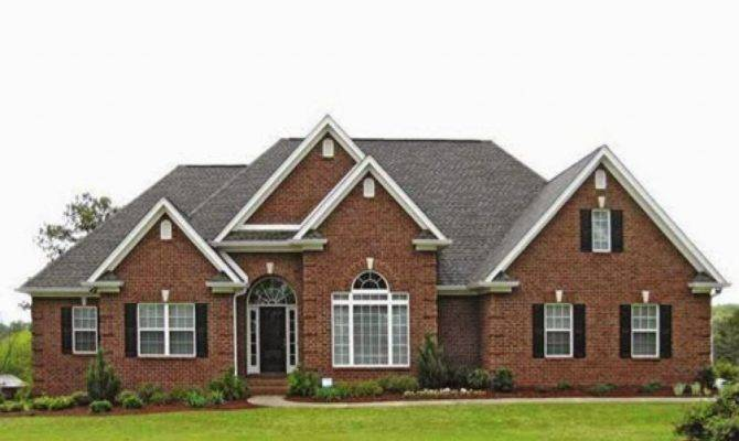 Brick Style Homes Ranch Front Porch Traditional