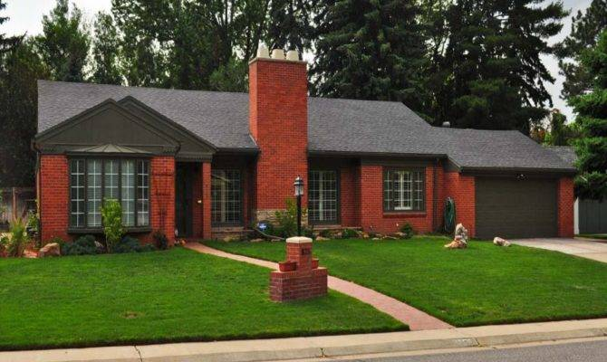 Brick Style Homes Red Craftsman Ranch