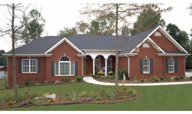Brick Vector Ranch House Plans