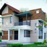 Brick Wall Mix Modern House Plan Kerala Home Design