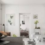 Bright Scandinavian Decor Small One Bedroom Apartments