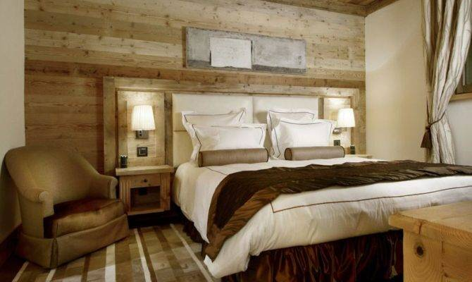 Brown Cabin Style Bedroom Perfectly Epitomize Courchevel Spirit