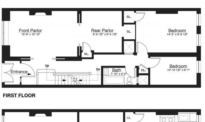 Brownstone Row House Floor Plans