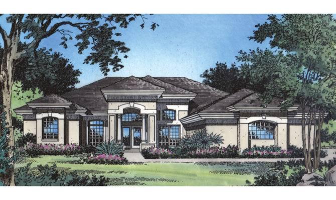 Buckhead Southwestern Home Plan House Plans More