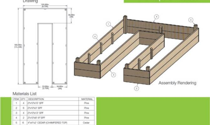 Build Shaped Raised Garden Bed Drawing