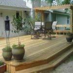 Build Standing Deck Cedar Pergola