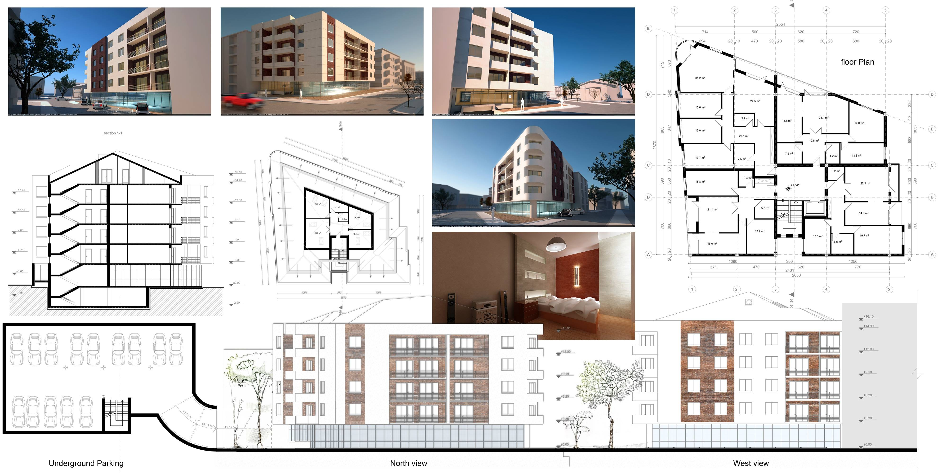 Building Plans Designed Oarchitecture Apartment