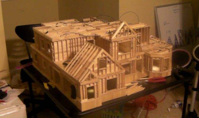 Building Popsicle Stick House Youtube