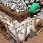 Building Stone Foundation Cob House
