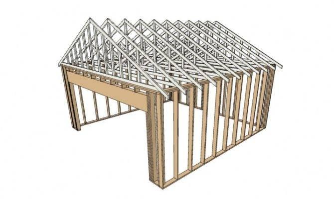 Building Wood Frame Garage Framing
