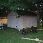 Built Wood Steel Screw Together Stick Garage