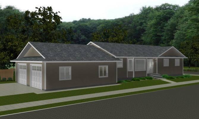 Bungalow Attached Garage House Plans Design